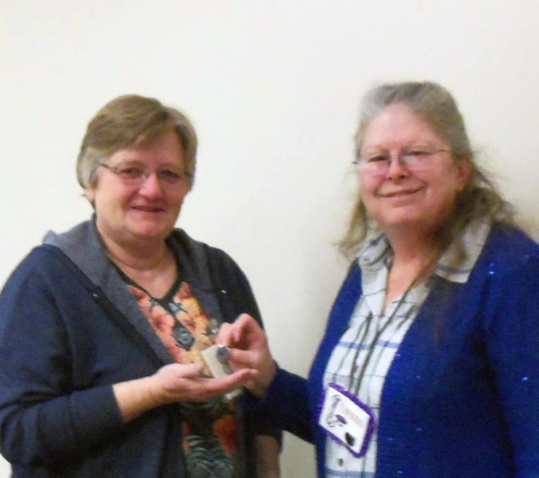President Donna pinned Kate Wild with the Past President's Pin at the February meeting.